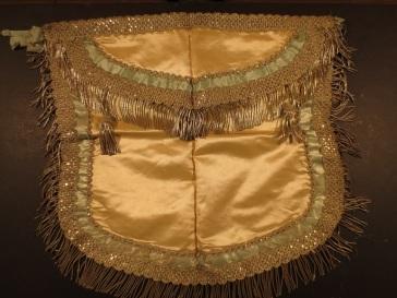 Masonic apron belonging to David or William H. Workman, mid-1800s.