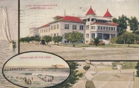 Postcard showing Long Beach sanitarium, 1911.