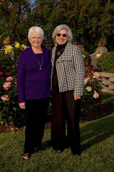 La Don (left), with Homestead Director Karen Wade.
