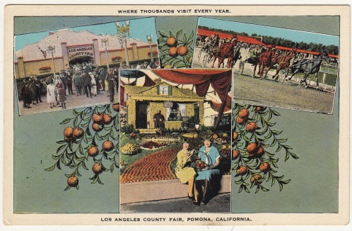 Postcard, Fair scenes, ca. 1920s. From the Homestead Museum collection.