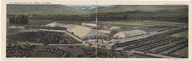 Postcard, L. A. County Fair grounds, ca. 1920s. From the Homestead Museum collection.