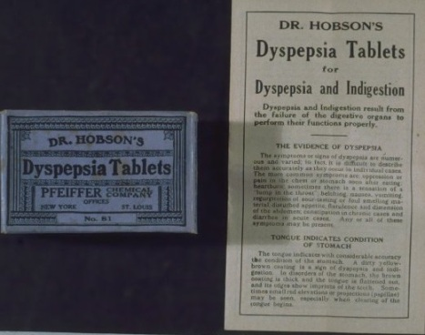 Dr. Hobson's Dyspepsia Tables, 1928.
