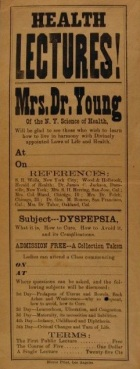 """""""Health Lectures!"""" broadside, 1925."""