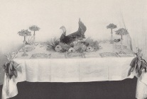 Turkey centerpiece from Table Decorations and Delicacies, 1914.