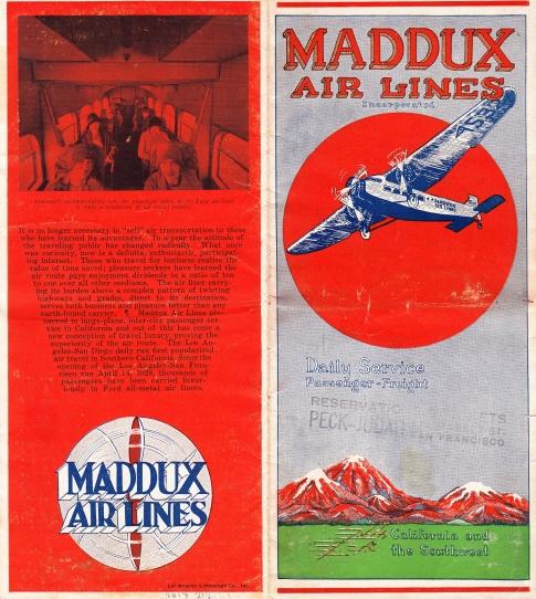 Maddux pamphlet front back color