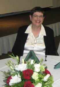 Sherri Salmans enjoying the company of her fellow volunteers at the Homestead's annual Volunteer Appreciation Dinner.