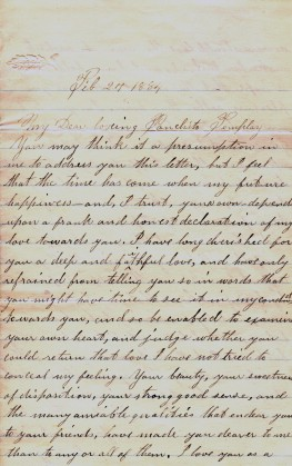Leap year proposal letter, February 27, 1884