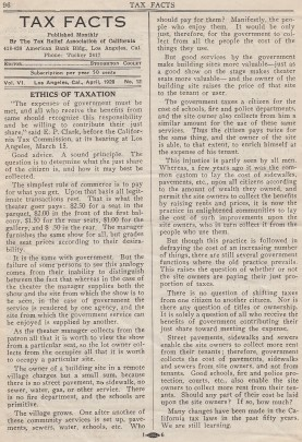 """Page four of """"Tax Facts,"""" April 1928."""