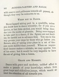"Be sure to exhibit decorum when it comes to dancing. ""Decorum,"" 1882. From the Homestead Museum collection."