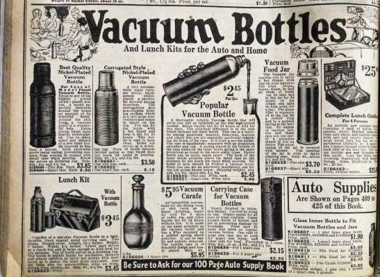 3 Vacuum Bottles- Montgomery Ward, 1921