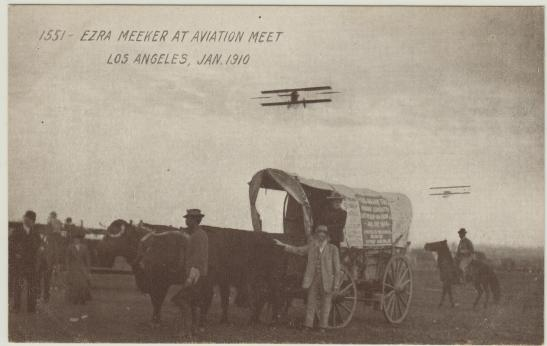 1 EZRA MEEKER AT AVIATION MEET, LOS ANGELES, JAN 1910 200413711