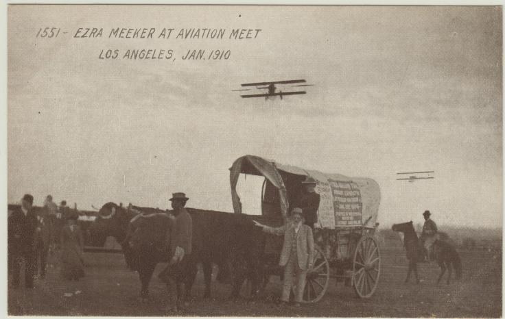 1 EZRA MEEKER AT AVIATION MEET, LOS ANGELES, JAN 1910 200413711
