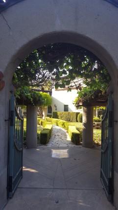 Mission Walkway near La Casa Nueva