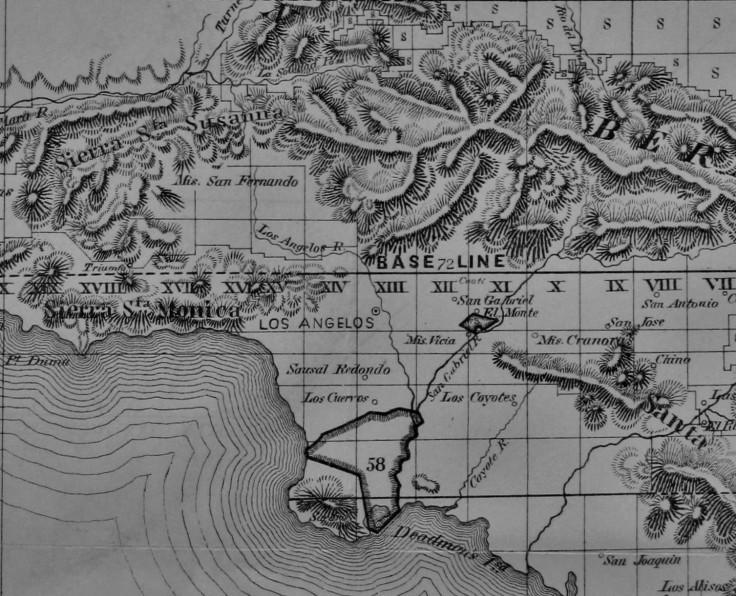 1858 public surveys map detail
