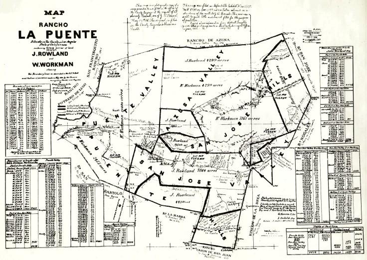La Puente 1868 map