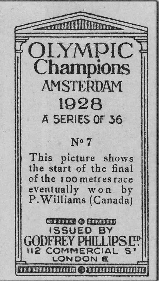 1928 Olympics 100 meter dash reverse