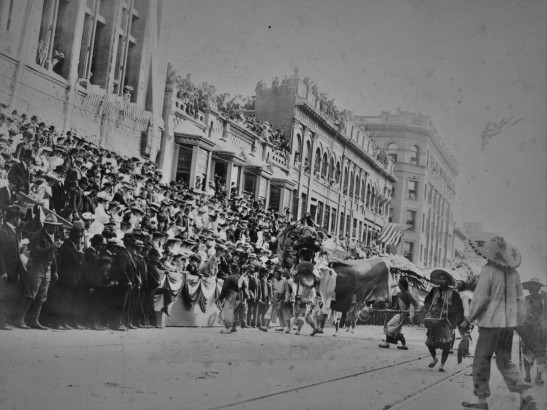 Chinese dragon at parade LA 1900s