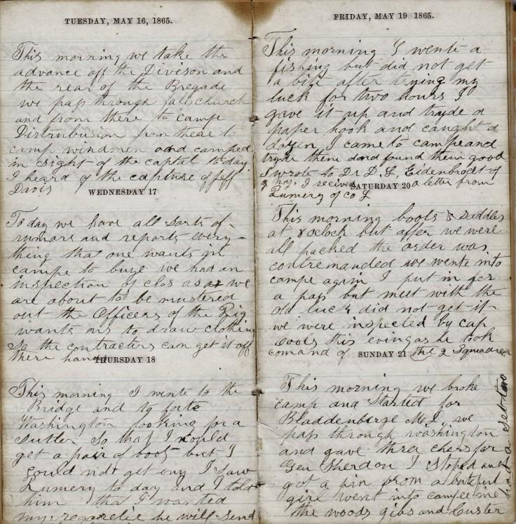 Jenkins Diary May 16-21