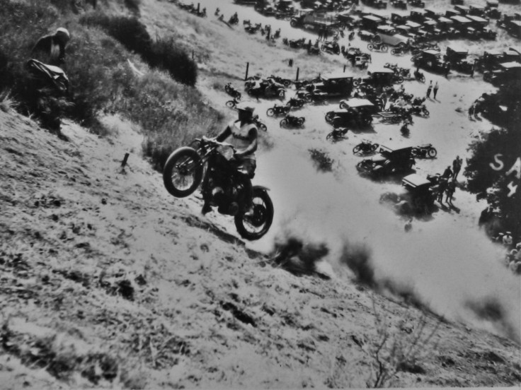 Motorcycle hill climbing Tujunga 1925