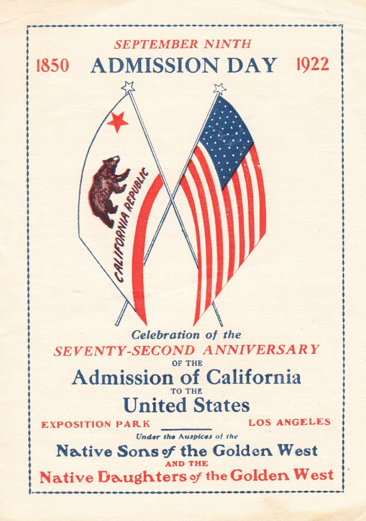 1922-admission-day-program-cover