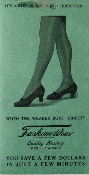 A fashion catalog for hosiery.