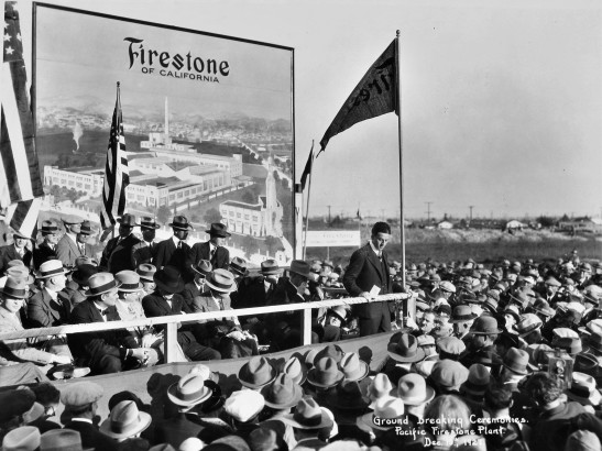 firestone-plant-groundbreaking-1927