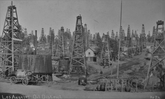 The Los Angeles City Oil Field, shown in the 1890s, was the site of the proposed Belmont Learning Complex, west of downtown. Safety concerns delayed completion of the campus, renamed the Roybal Learning Center, until 2008. Other sites were far worse.