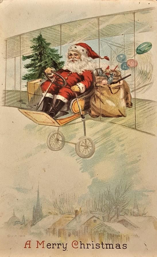 santa-biplane-1910s