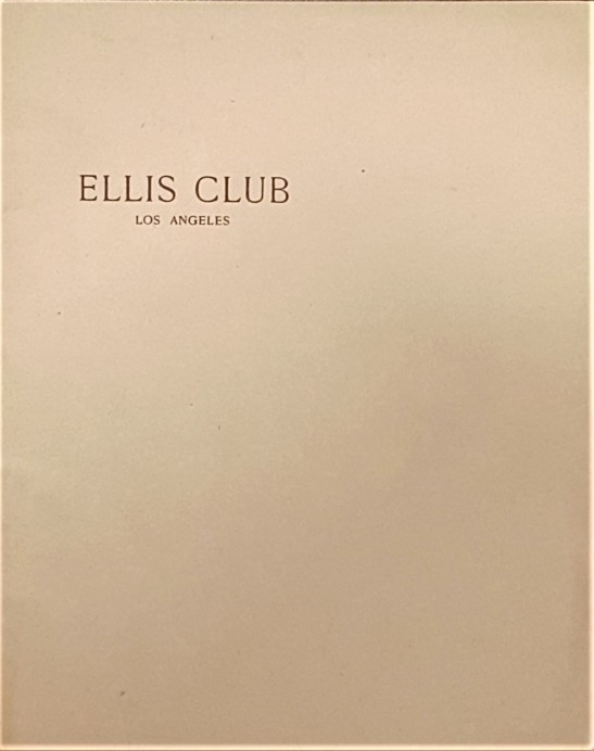 Ellis Club cover