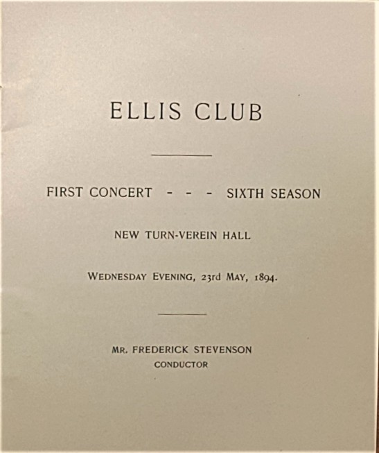 Ellis Club title page