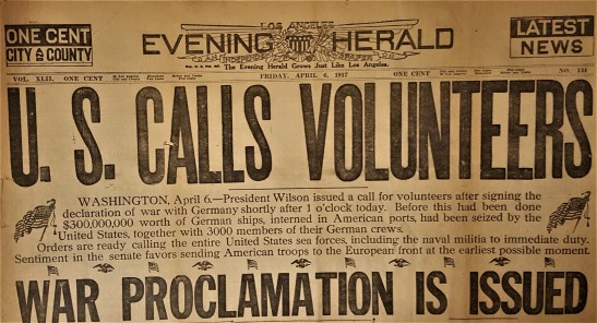 Herald 6 April 1917 headlines