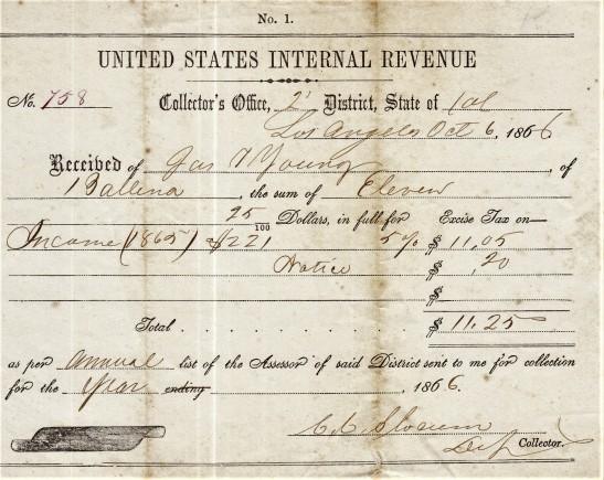 Young IRS tax bill 1866