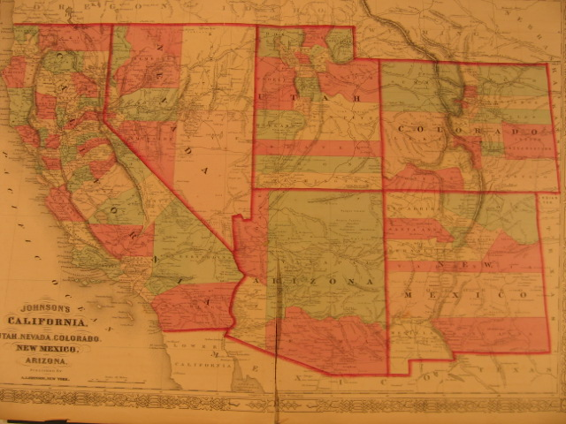 US West map 1866