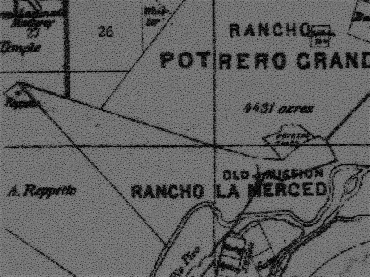 1877 map La Merced
