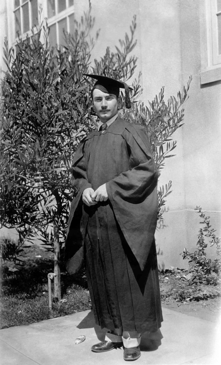 Thomas W Temple II In Graduation Cap And Gown University Of Sant