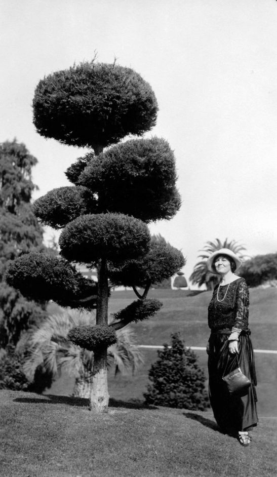 Woman With Topiary Busch Gardens Pasadena 2009.115.1.6