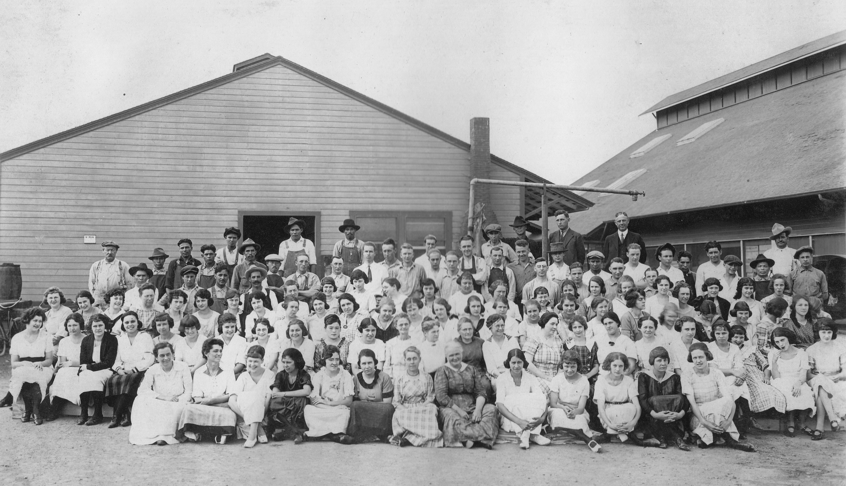 Wo/Men At Work: Hewes Packing House, El Modena, Orange, Ca. Early 1920s