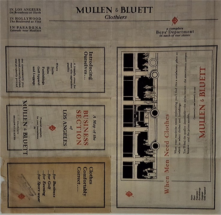 Mullen Bluett Map 1925
