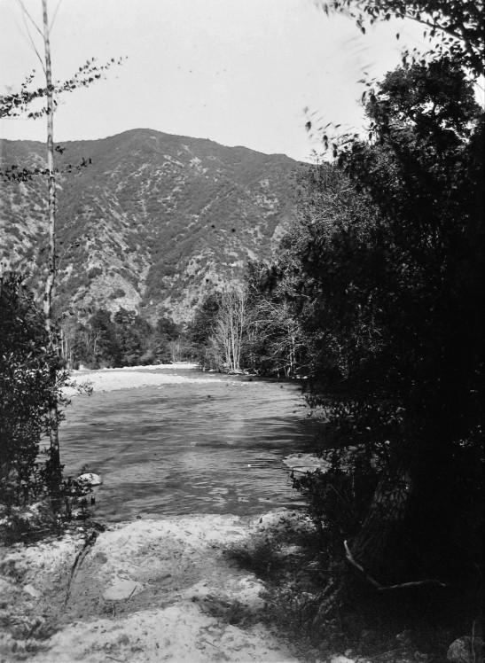 San Gabriel River in canyon