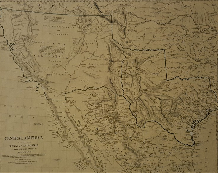 Map Of Texas Mexico.All Over The Map Central America Including Texas California And