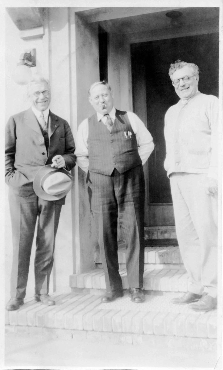 W P Temple George Woodruff And Sylvester Dupuy At Dupuy Home Alhambra ca 1928 80.19.83.1