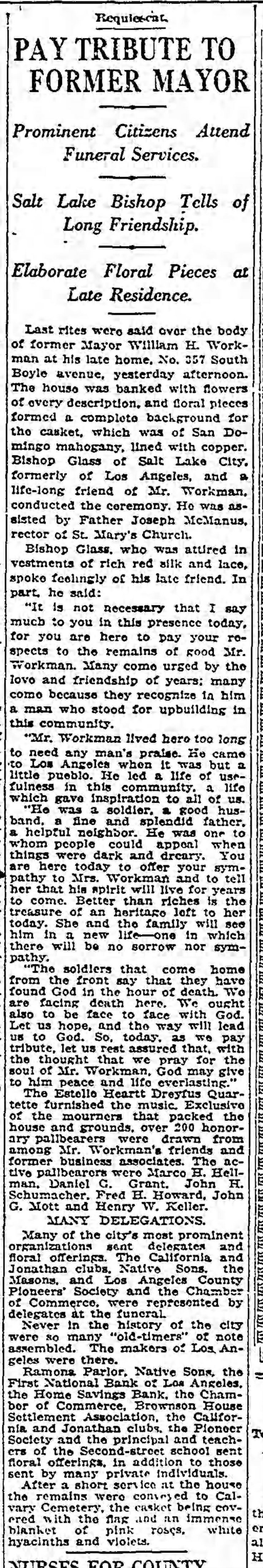 On This Day: The Death of William H  Workman, 21 February