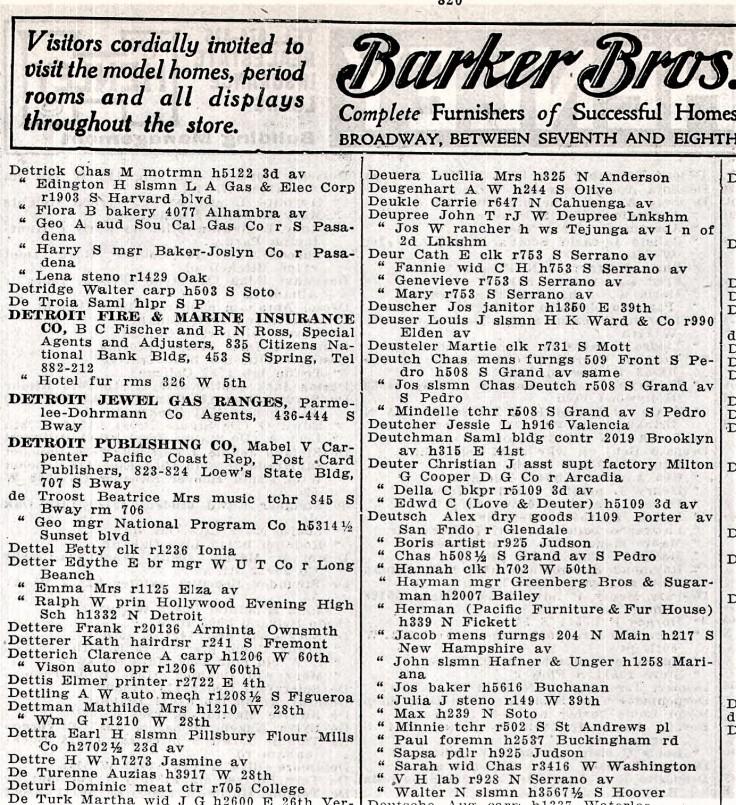 Deutsch 1924 directory
