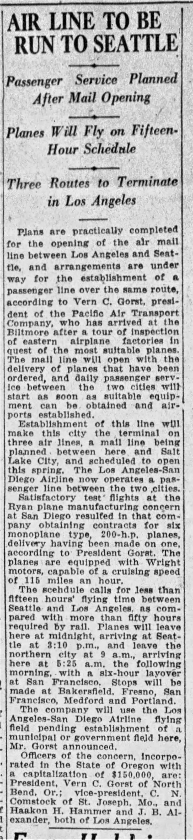 Pacific Air Transport mail LA_Times_Feb_12__1926_