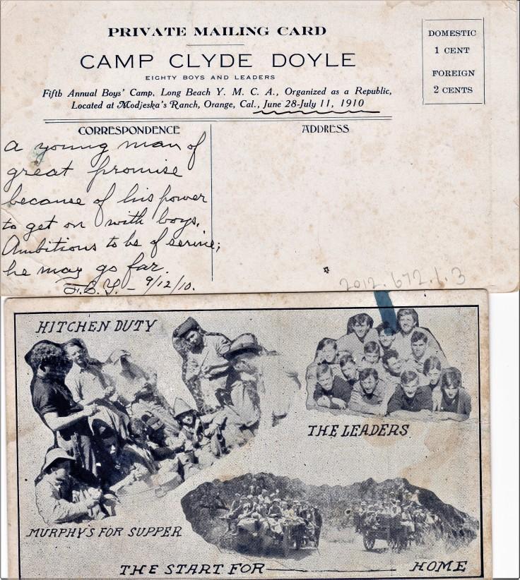Camp Doyle PCs Modjeska Ranch 1910