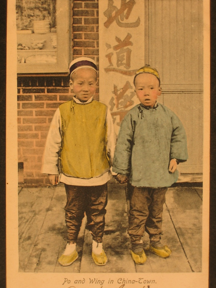 Po and Wing in China-town ca 1905