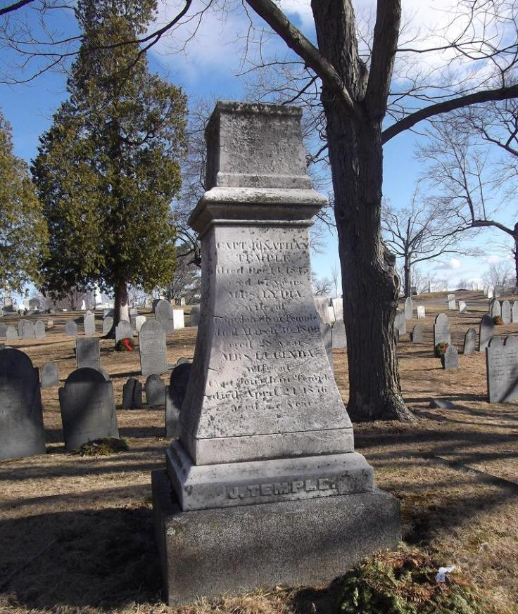 Temple tombstone Reading MA