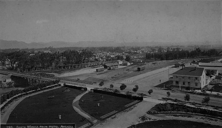 Santa Monica from Hotel Arcadia 1890s