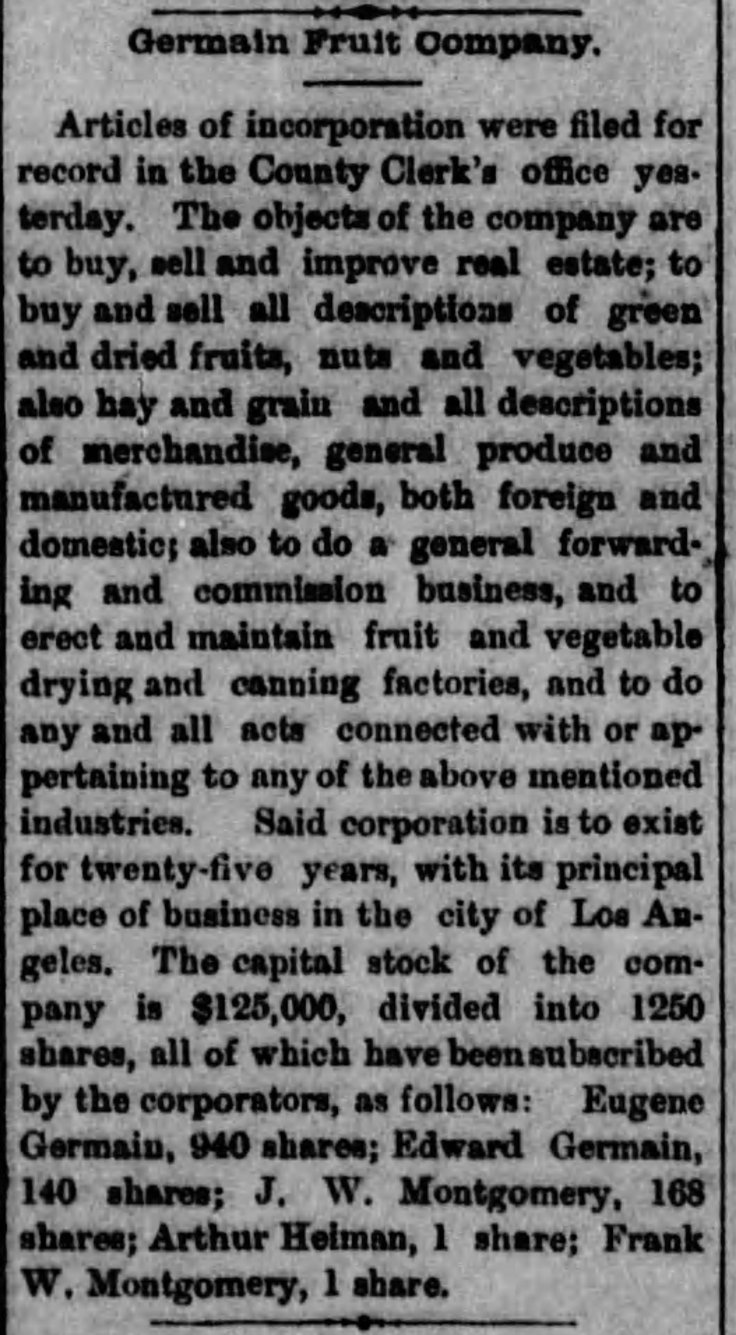 germain fruit co incorp herald_jan_4__1884_