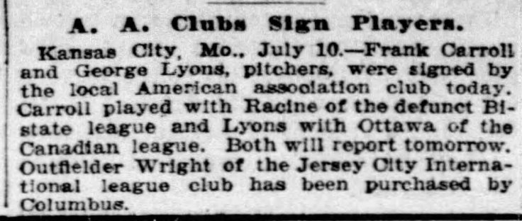 lyons signed to team chicago_tribune_jul_11__1915_